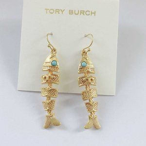 Tory Burch Fish-shaped Personality Earrings